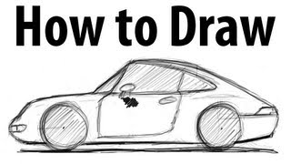How to draw a Porsche 911 (993) - Sketch it quick!