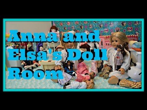 American Girl Doll Disney Frozen Elsa And Anna's Doll Room HD Please Tsum Tsum