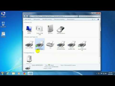 Tech Support: How to set the Default Printer in Windows 7
