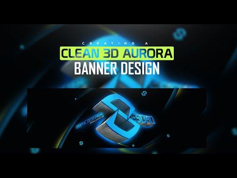 Photoshop/C4D Tutorial: Clean 3D Aurora Banner Design