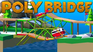 I Made The WORST Bridges That Only Kill People In Poly Bridge 2 Gameplay!