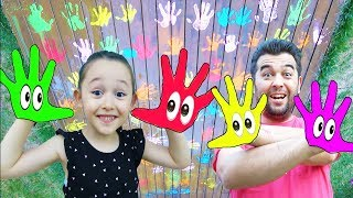 Learn Colors With Öykü Pretend Play with colored paints Short color song