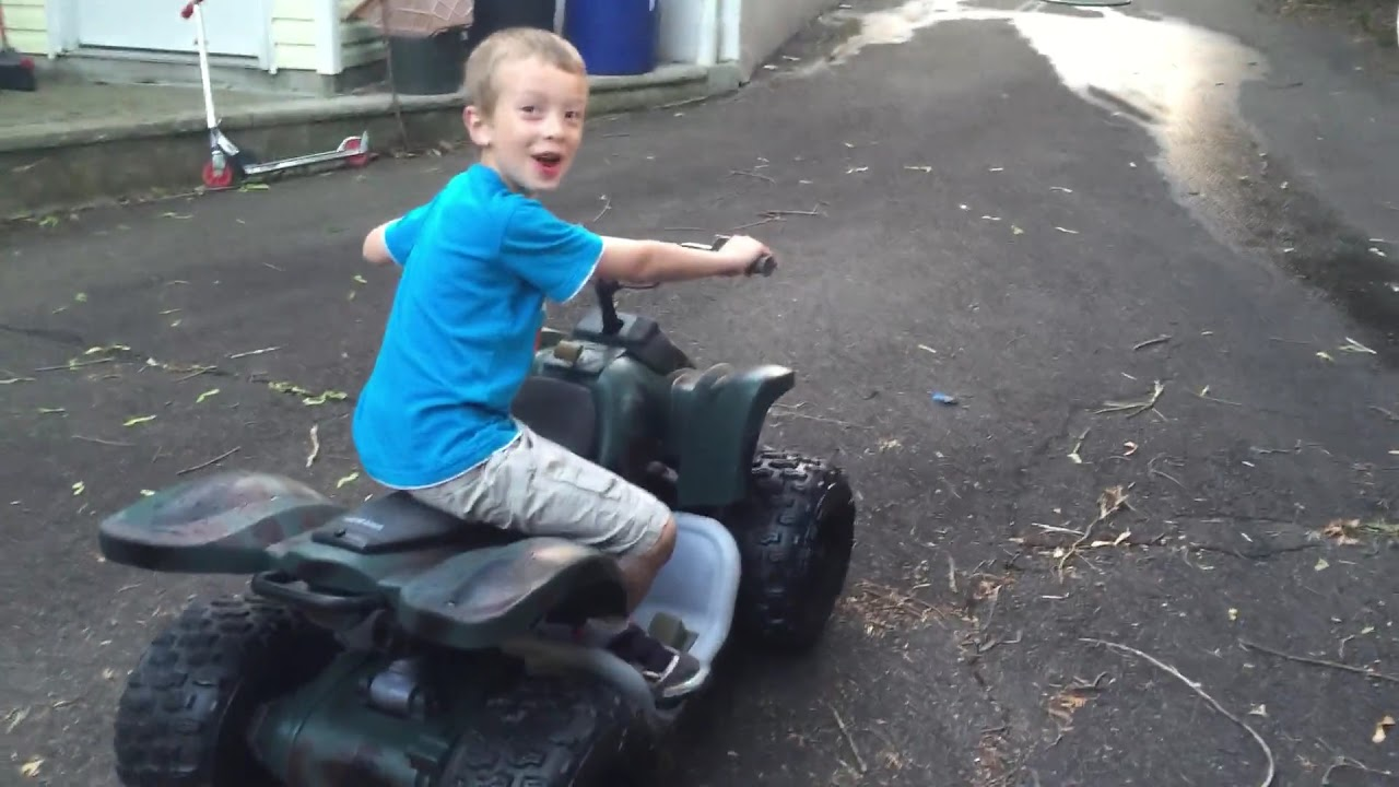 Modified Powerwheels - YAMAHA RAPTOR 700R, 24V - YouTube on