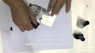 Hướng dẫn sử dụng bộ đĩa in hình nail art stamping phukienn