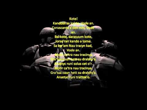 Star Wars: Republic Commando Music - Vode An w/ Ancient Mandalorian Lyrics