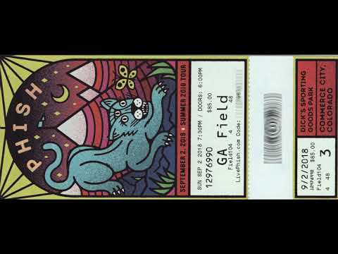 2018-09-02: Phish ~ Dick's Sporting Goods Park, Commerce City, CO (Audio only)