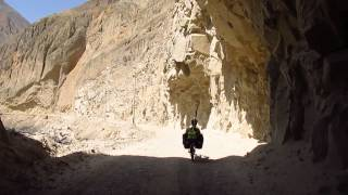 The first tunnel in the Canon del Pato, in Peru (coming from Trujillo)