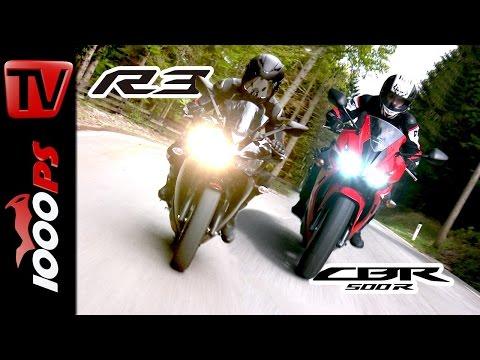 A2 Motorrad Vergleich | Honda CBR 500R Yamaha YZF R3 Foto