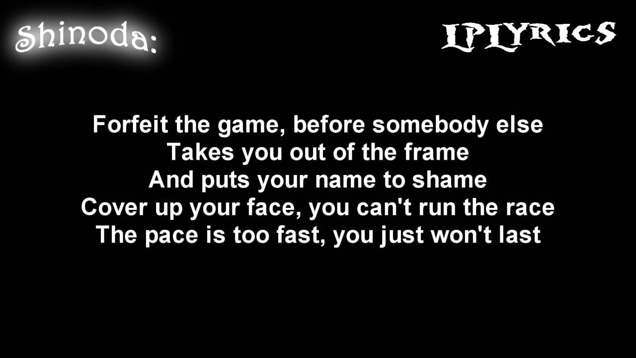 Linkin Park Points Of Authority Lyrics On Screen Hd Youtube
