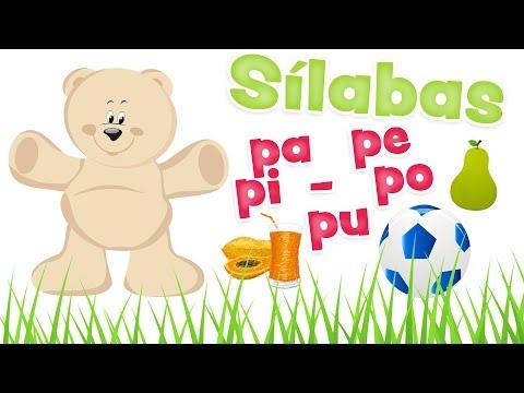 Sílabas PA PE PI PO PU y palabras con la LETRA P - Aprender vocabulario