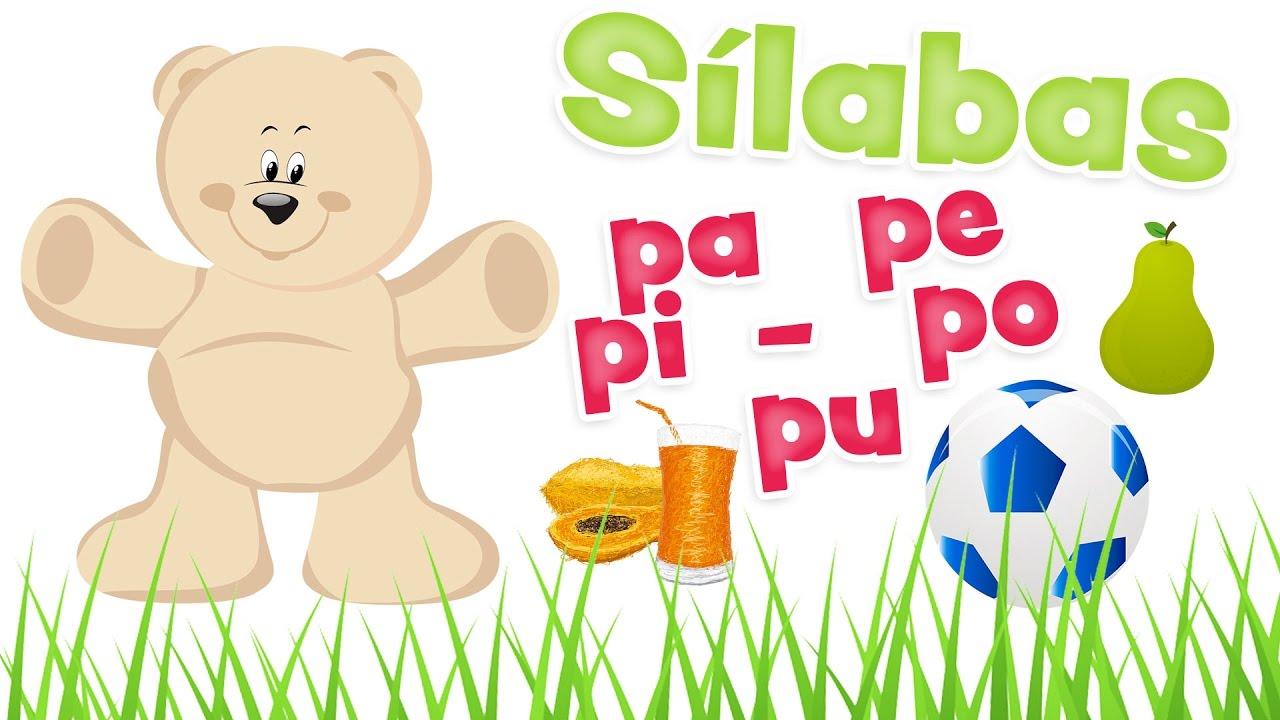 sílabas pa pe pi po pu y palabras con la letra p aprender