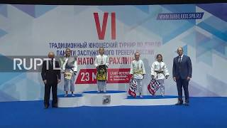 Russia: Putin attends judo tournament dedicated to his mentor