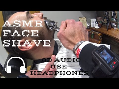 💈---face-shave-manual-clippers-and-straight-razor-single-blade---traditional-italian-barber---asmr