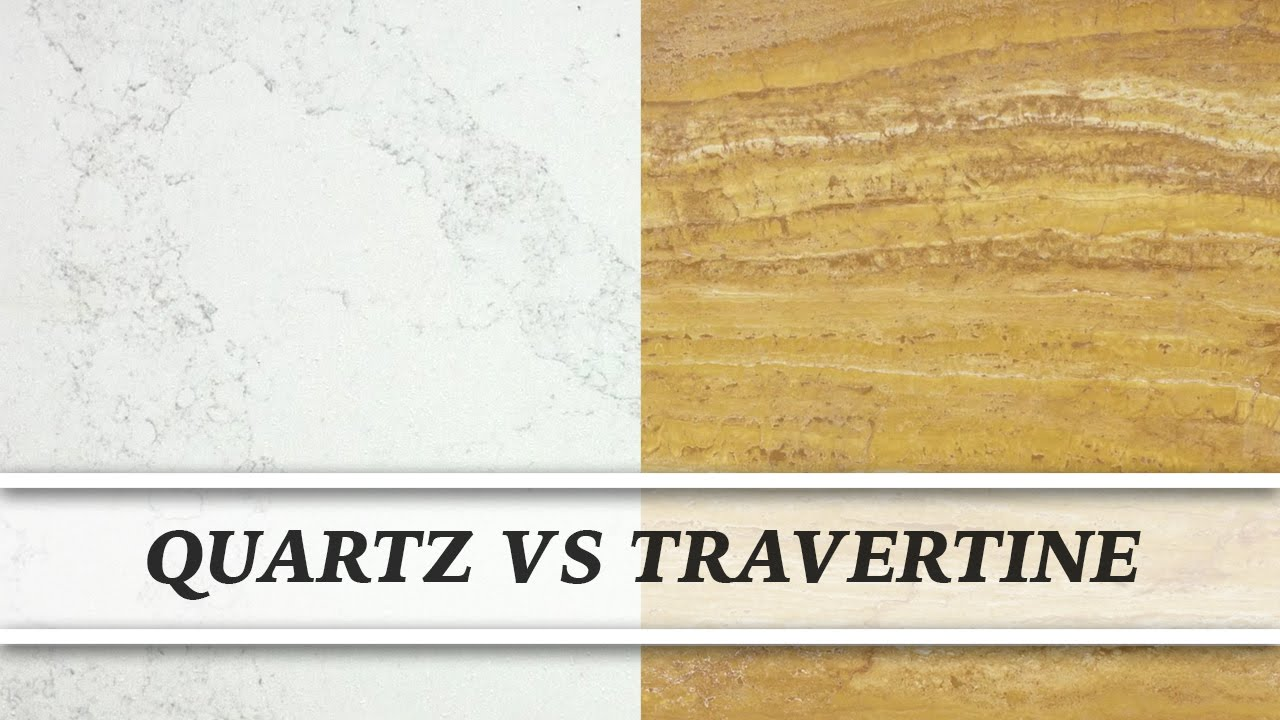 Travertine Vs Granite Countertops : Quartz vs travertine countertop comparison youtube