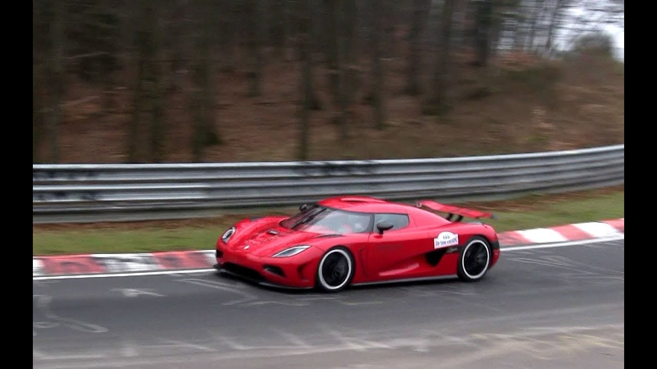 Red Koenigsegg Agera R Driving On Nordschleife 1080p Hd