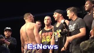 Conor McGregor Gets Into It With Floyd Mayweather Bodyguards EsNews Boxing