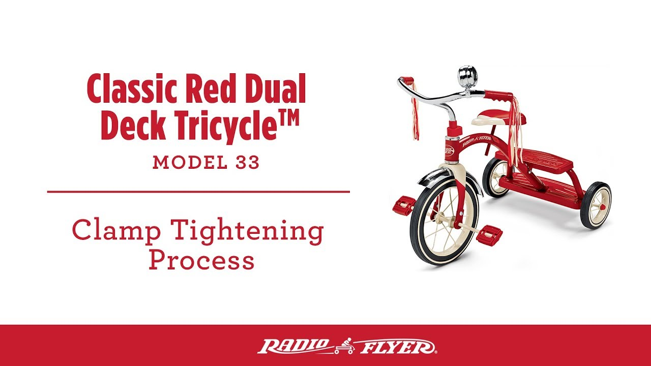 c4d9bc8e912 Classic Red Tricycle: Clamp Tightening Process - YouTube