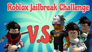 ROBLOX Jailbreak 3 cops vs 1 criminal Challenge!!
