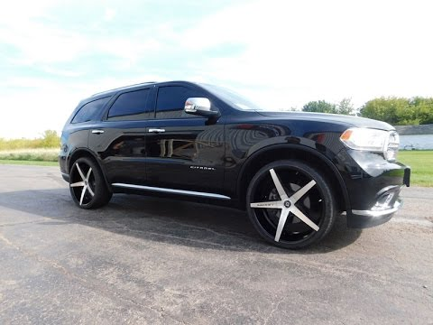 2017 Dodge Durango Citadel W 24x10 Lexani R Four Wheels Ho 275 30 Asx Tires