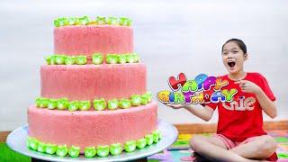 Làm Bánh Sinh Nhật Dưa Hấu Khổng Lồ ❤ Tổ Chức Sinh Nhật Bất Ngờ Cho Kiều Anh Trang Vlog
