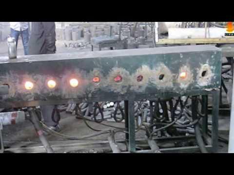 Среднечастотный индукционный нагреватель для ковочной печи для круглого проката