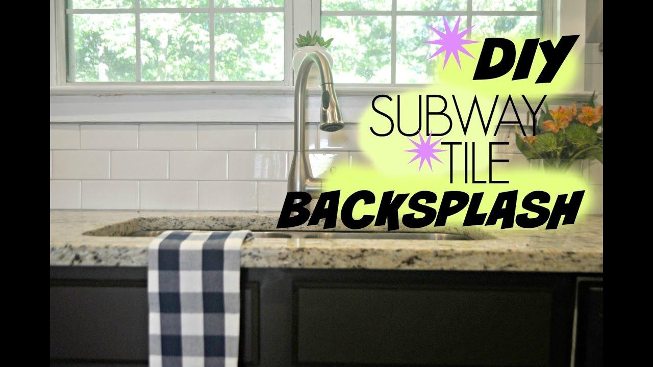 Diy subway tile backsplash tutorial youtube diy subway tile backsplash tutorial dailygadgetfo Images
