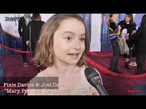 "Pixie Davies & Joel Dawson at  ""Mary Poppins Returns""  World Premiere Mp3"