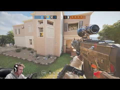 3v4 Against a Guy Using MACROS! w/ Facecam - Rainbow Six Siege || Custom Game
