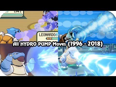Evolution of Pokémon Moves - Hydro Pump (1996 - 2018)