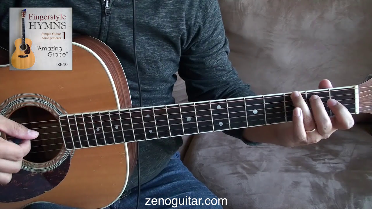 how to play amazing grace on guitar fingerstyle
