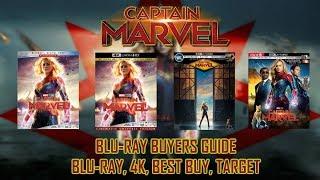 CAPTAIN MARVEL - 4K/BLURAY UNBOXING (BLURAY, 4K, BEST BUY, TARGET) - BLURAY BUYERS GUIDE