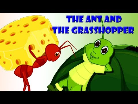 The Ant And The Grasshopper | English Moral Story For Kids | Animated Stories With English Subtitles