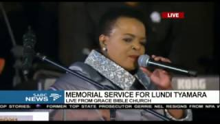 MUST WATCH: Rebecca Malope's moving tribute to Lundi