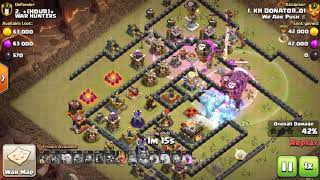 Amazing 16 Balloons Lava attack TH11 - clash of clans best clan war attacks - PH Gamer
