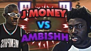 "PLAYING vs TWITCH STREAMER ""AMBISHH"" | J MONEY x BRUCE | NBA 2K17 MyPARK"