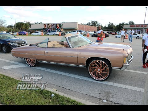WhipAddict: Champagne 71' Chevy Impala Convertible on Rose Gold Asanti 26s, LS Motor
