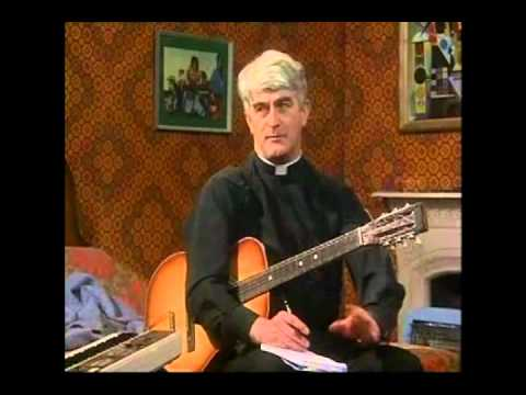 Father Ted  Practicing A Song For Europe