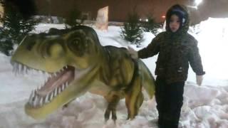 Развлечение для детей Парк Динозавров Динопарк Ледниковый период Парк юрского периода Детский Канал
