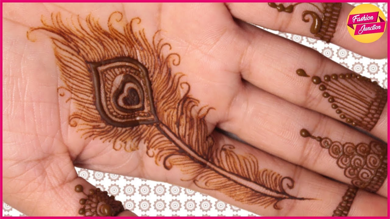 Peacock Feather Mehandi Designs Fashion Junction Youtube