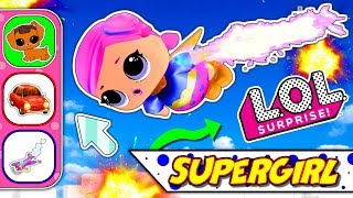 LOL DOLL SUPERGIRL RESCUES CUTE PUPPY | LOL Surprise! | NEW EPISODE Kids Cartoon | Cartoons for Kids