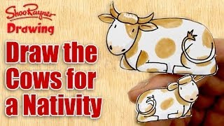 How to draw Cows - Make a Nativity Scene