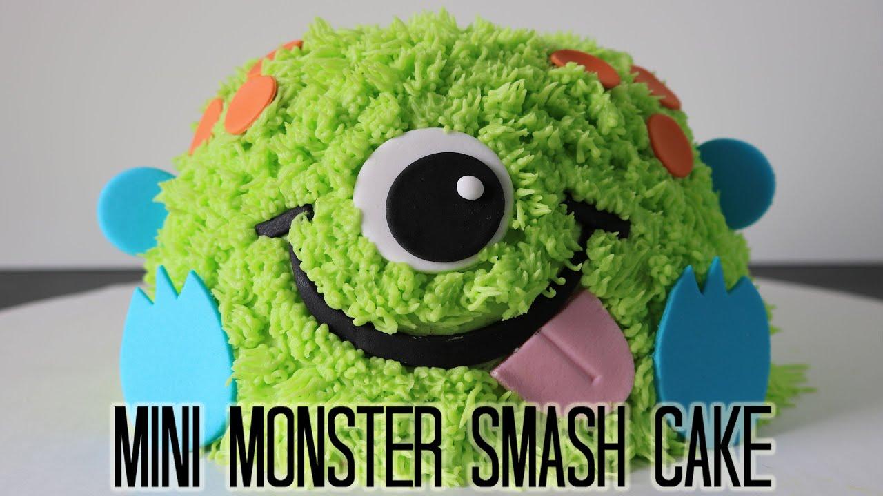 Mini Monster Smash Cake! - YouTube