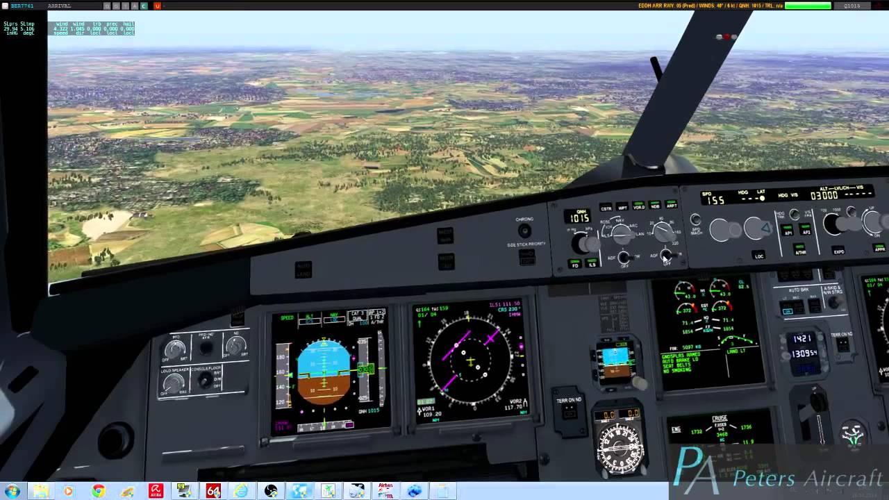 X-Plane 10: A320 approaching Aerosoft´s EDDH - Videos