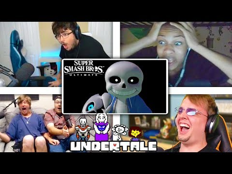 All Reactions to SANS Reveal Trailer - Super Smash Bros. Ultimate