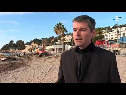 Trois établissements de plage détruits à Golfe-Juan