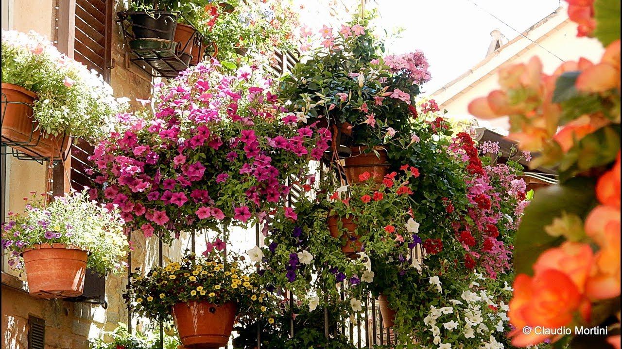 spello finestre balconi e vicoli fioriti 2017 hd youtube On balconi invernali fioriti