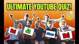 DEN ULTIMATIVE YOUTUBE QUIZ!! - (Straf) Jeppe Ølgaard, Tobias Møller, Benjamin Mann-Nakel og Co.