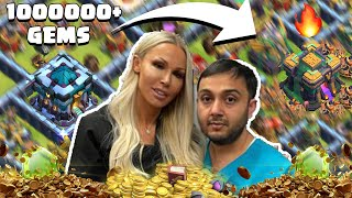 Mr & Mrs Mujtaba Maxing Town Hall 14 With 1 Million + Gems - Clash Of Clans - Coc