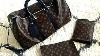 louis vuitton keepall macassar 45 b travel edition what fits what i carry