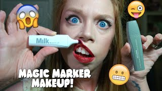 MAGIC MARKER MAKEUP!